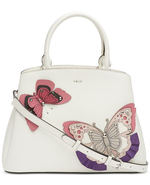 DKNY Paige Leather Butterfly Satchel, Created for Macy's
