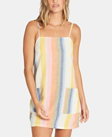 Billabong Juniors' Straight Around Striped Slip Dress