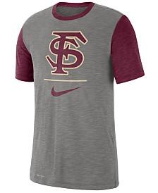 Nike Men's Florida State Seminoles Dri-FIT Slub Raglan T-Shirt