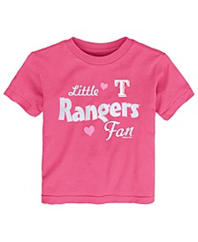 Toddlers Texas Rangers Girly Fan T-Shirt