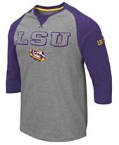 aa49f1fae49 Colosseum Men s LSU Tigers Team Patch Three-Quarter Sleeve Raglan T-Shirt