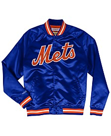Mitchell & Ness Men's New York Mets Lightweight Satin Jacket