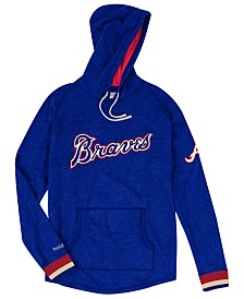 Mitchell & Ness Men's Atlanta Braves Midweight Appliqué Hoodie