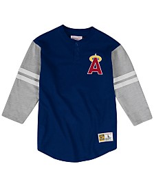 Mitchell & Ness Men's Los Angeles Angels Heyday Henley T-Shirt