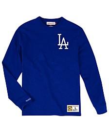 Mitchell & Ness Men's Big & Tall Los Angeles Dodgers Slub Long Sleeve Top