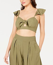 GUESS Charissa Cutout Crop Top