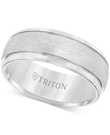 Triton Men's Tungsten Ring, Wedding Band