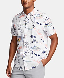 Men's Tropical Graphic Linen Shirt, Created for Macy's