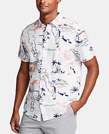 Nautica Men's Tropical Graphic Linen Shirt, Created for Macy's