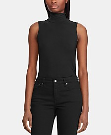 Lauren Ralph Lauren Sleeveless Turtleneck Top
