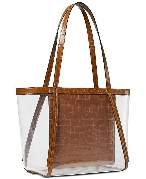 b89807857 Michael Kors Whitney Clear Inset Tote & Reviews - Handbags ...