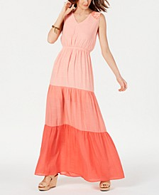 Petite Colorblocked Maxi Dress