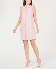 Anne Klein Button-Front Shift Dress
