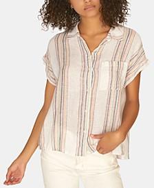 Modern Boyfriend Striped Button-Up Shirt