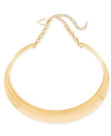 "Thalia Sodi Gold-Tone Wide Collar Necklace, 17"" + 2"" extender, Created for Macy's"