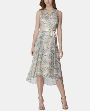 Tahari Asl Dresses EMBROIDERED HIGH-LOW DRESS