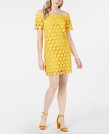Trina Trina Turk Off-The-Shoulder Lace Shift Dress