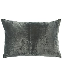 """Jaipur Living Luxe Gray Solid Poly Throw Pillow 16"""" x 24"""""""