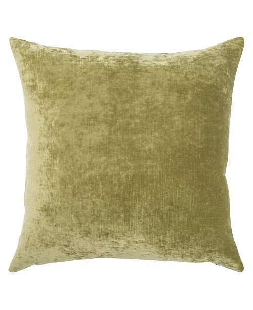 """Jaipur Living Luxe Olive Solid Poly Throw Pillow 20"""""""