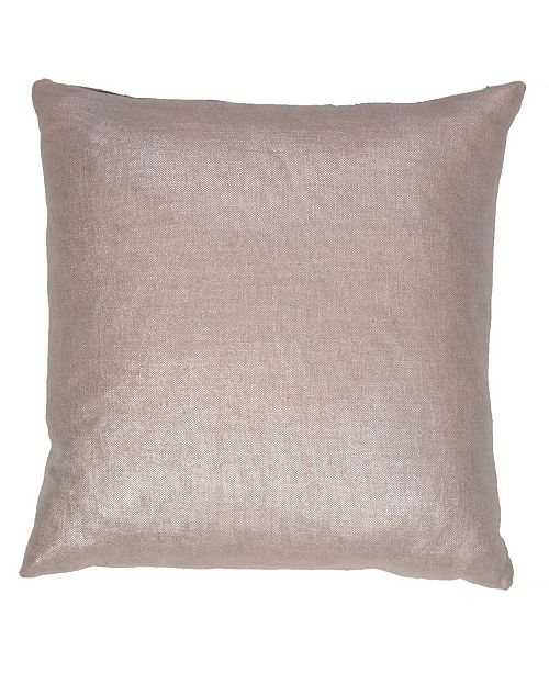 Jaipur Living Glitter Silver/Gray Solid Down Throw Pillow 18""