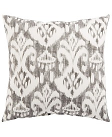 "Jaipur Living Rivoli Fresco Gray/White Ikat Indoor/ Outdoor Throw Pillow 18"""