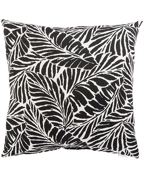 "Jaipur Living Malkus Fresco Black/White Floral Indoor/ Outdoor Throw Pillow 18"""