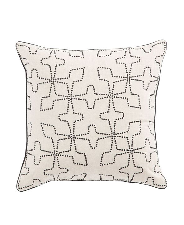 Jaipur Living Nikki Chu By Greta Cream/Black Geometric Down Throw Pillow 22""