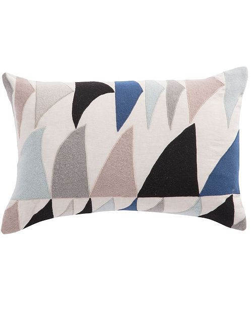 "Jaipur Living Nikki Chu By Priscilla Geometric Throw Pillow 16"" x 24"" Collection"