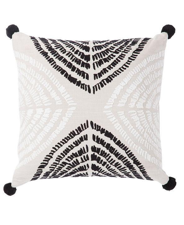 "Jaipur Living Nikki Chu By Angelika Black/Silver Textured Poly Throw Pillow 22"""