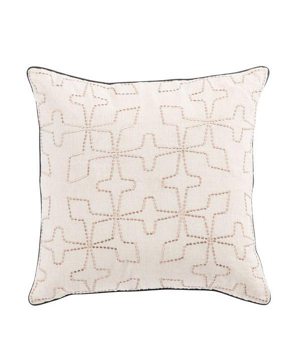 "Jaipur Living Nikki Chu By Greta Cream/Beige Geometric Poly Throw Pillow 22"""