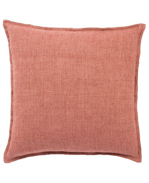 """Jaipur Living Blanche Solid Red Down Throw Pillow 22"""""""