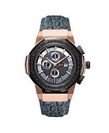 Men's 10 YR Anniversary Saxon Diamond (1/6 ct.t.w.) & 18K Rose-gold Plated Watch