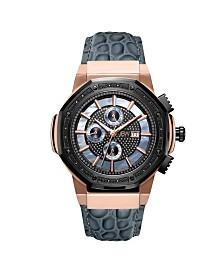 JBW Men's 10 YR Anniversary Saxon Diamond (1/6 ct.t.w.) & 18K Rose-gold Plated Watch