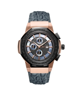 Men's 10 Yr Anniversary Saxon Diamond (1/6 ct.t.w.) & 18K Rose-gold Plated Watch