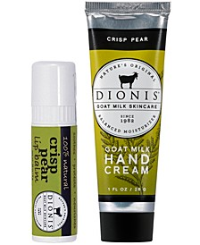 Crisp Pear Hand Cream and Lip Balm Gift Set