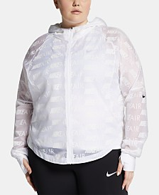 Nike Plus Size Air Hooded Running Jacket