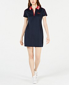 Contrast Polo Dress