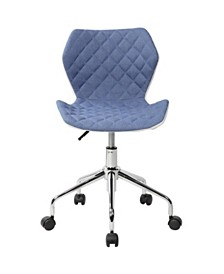 Techni Mobili Modern Adjustable Office Task Chair, Quick Ship