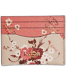 COACH Mixed Floral Card Case