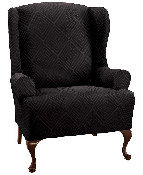 P/Kaufmann Home Shapely Diamond Slipcover Wing Chair