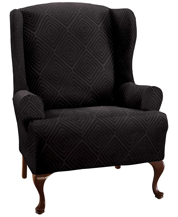 P/Kaufmann Home Shapely Diamond Slipcover Wing Chair