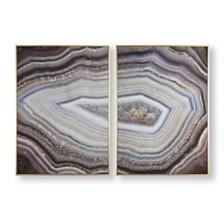 Graham & Brown Glamorous Gems Framed Canvas Wall Art - Set of 2