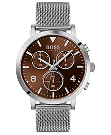 Men's Chronograph Spirit Stainless Steel Mesh Bracelet Watch 41mm
