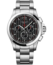 Men's Swiss Chronograph Conquest V.H.P. Stainless Steel Bracelet Watch 44mm