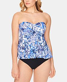 Swim Solutions Flyaway Tankini Top & Bikini Bottoms, Created for Macy's