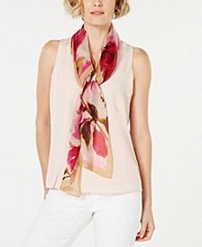 Watercolor Flowers Silk Square Scarf