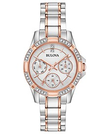 Women's Crystal Two-Tone Stainless Steel Bracelet Watch 32mm, Created for Macy's