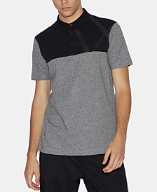 A|X Armani Exchange Men's Slim-Fit Colorblocked Tonal Logo Polo