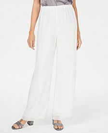 Straight-Leg Chiffon Pants