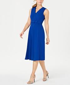 Calvin Klein Belted Midi Dress